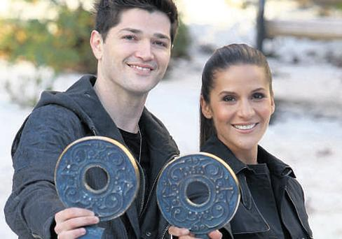 Danny O'Donoghue, lead singer with the Script, helps host Amanda Byram launch the 10th annual Meteor Awards, to be held on Friday January 19 at the RDS in Dublin