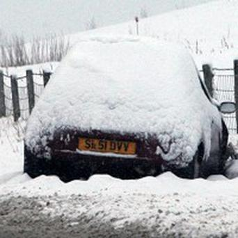 A woman had to trudge through snow to give birth