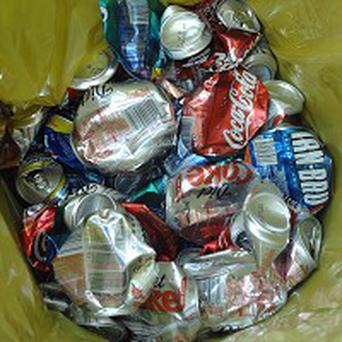 A Washington couple is piling up aluminium cans to pay for their wedding