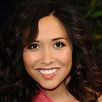 Myleene Klass was warned by police for waving a knife at intruders in her garden