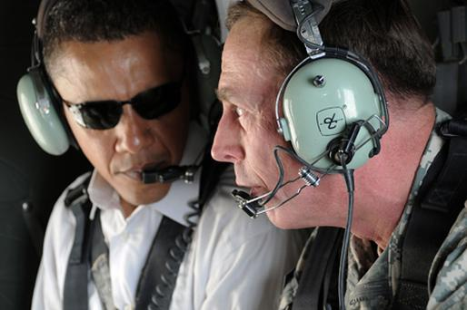 US Army General David Petraeus (right) pictured with US President Barack Obama. Photo: Getty Images