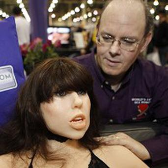 Engineer Douglas Hines with 'world's first sex robot' Roxxxy