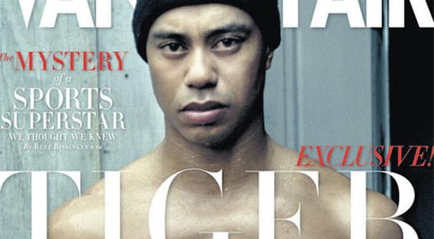The cover of Vanity Fair which shows Tiger Woods' impressive physique.