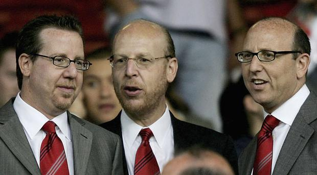 Keep it in the family: Manchester United's Joel, Avram and Bryan Glazer Photo: Getty Images