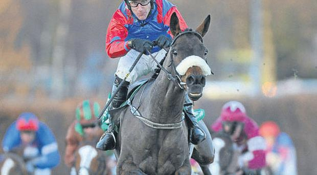 Oscar Time, here landing the Paddy Power Chase under Robbie Power, will have the Irish National as his main target