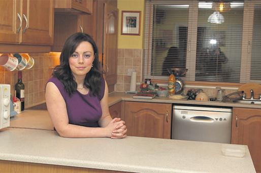 Andrea Carroll at her home, which has lost more than a third of its value, in Navan, Co Meath