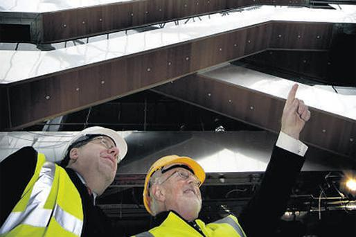 CCD chairman Dermod Dwyer told Mr Cowen yesterday that the Spencer Dock venture is a 'win-win project for everybody.' At the visit were Mr Cowen and Mr Dwyer