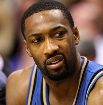 Gilbert Arenas has been indefinitely suspended after bringing a bag of guns into the dressing room of the Washington Wizards . Photo: Getty Images