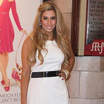Stacey Solomon arrives for the gala performance of Legally Blonde at the Savoy Theatre in central London