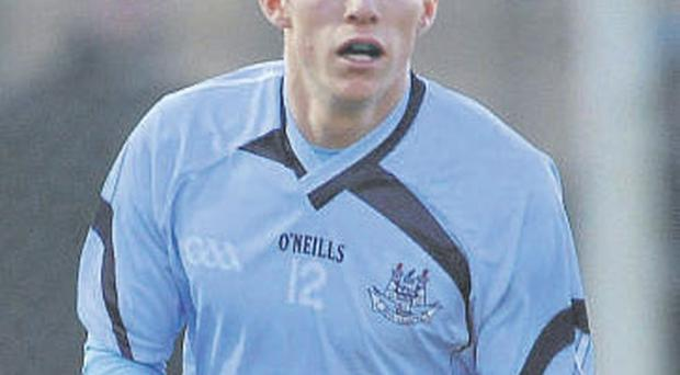 Darren Daly in action for Dublin during the recent Dub Stars game. With no sponsorship agreement signed, there will have no sponsor's logo on their jerseys again for their O'Byrne Cup clash against Wexford