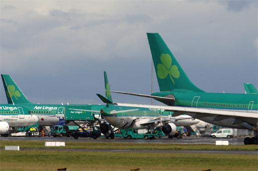 A majority of Aer Lingus' 470 pilots are due to meet this evening in order to discuss the findings of the arbitration report. Photo: Bloomberg News