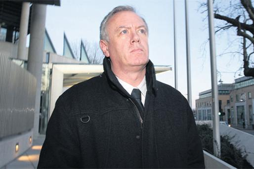 Eamonn Lillis leaving the Central Criminal Court last Friday where he is on trial for the murder of his wife Celine Cawley