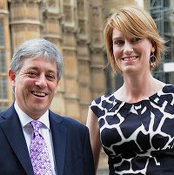 Speaker John Bercow and wife Sally are being troubled by an evasive mouse