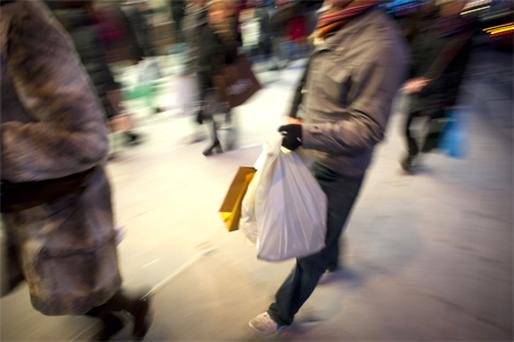 The annual sales decline has eased. Photo: Bloomberg News
