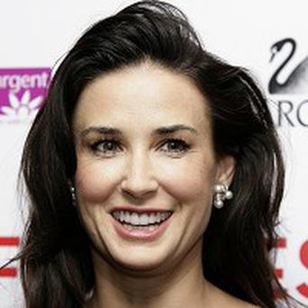 Demi Moore tweeted that she was having a bad hair day