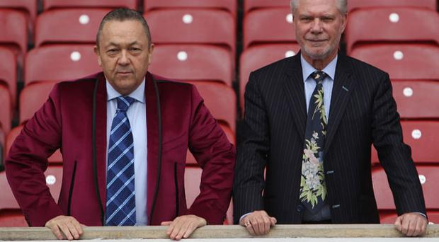 Full steam ahead: David Sullivan (l) and David Gold have ambitious plans for West Ham Photo: Getty Images