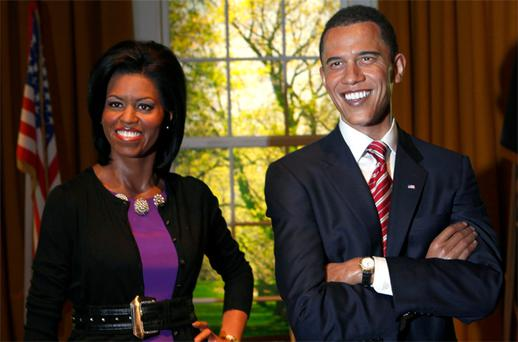 London's wax museum Madam Tussaud's this week added a new figure of US first lady Michelle Obama to the display featuring President Barack Obama