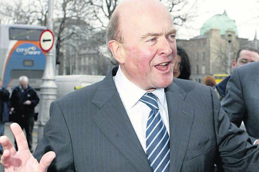 A jubilant Jim Flavin after victory in 2005 in the High Court in the civil case for damages brought by Fyffes