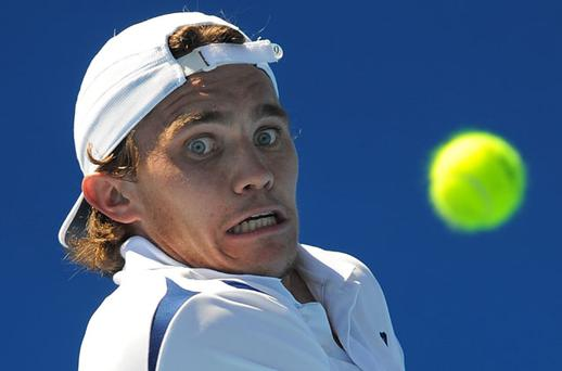 Louk Sorensen eyes a return against John Isner in their second round match Photo: Getty Images