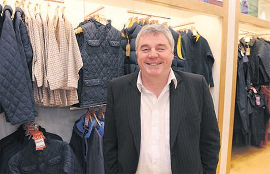 Gerry McAuley, sales director Jack Murphy, at the company's retail section in Clerys. The outdoor clothes brand went into retail itself to beat the effects of the recession