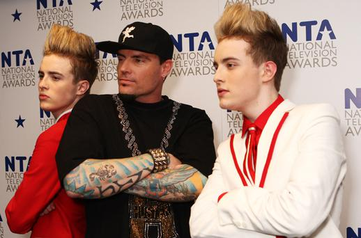 John and Edward duetted with 90's rap icon Vanilla Ice. Photo: Getty Images