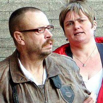 Caroline Cartwright and her husband Steve Cartwright leave Newcastle Crown Court