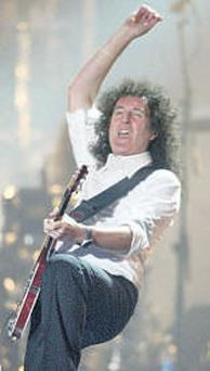 Brian May: will appear in 'We Will Rock You' next weekend.