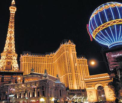 Something for everyone: Casinos and hotels on the Strip.