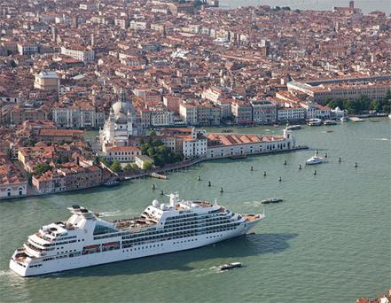 Seabourn's 'Odyssey' sets sail from Venice