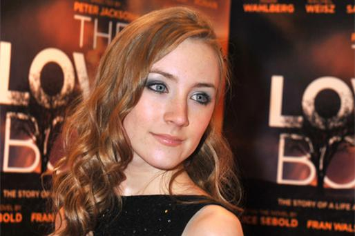 Bafta-nominated actress Saoirse Ronan at the premiere of 'The Lovely Bones' in Dublin last night