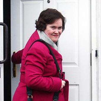 Susan Boyle has returned home after a break-in