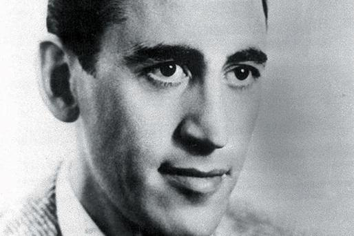 The late American writer JD Salinger and (inset) his iconic book 'The Catcher in the Rye', which was banned from the curriculum in some schools because it was deemed too controversial