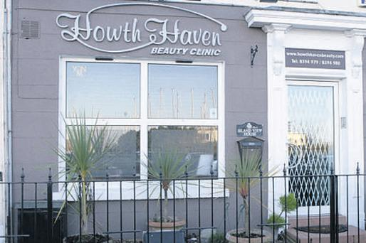 Howth Haven, the upmarket beauty salon where Eamonn Lillis, who was convicted yesterday of manslaugher, first met beauty therapist Jean Treacy. She no longer works there