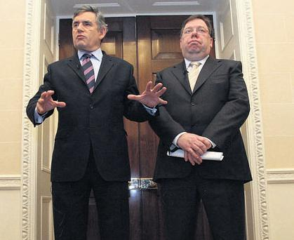 LOSING SLEEP: Gordon Brown and Brian Cowen have more pressing problems to be dealing with than spending their days and nights trying to cajole the Sinn Fein and DUP delegations into agreement on policing.