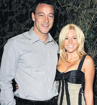 PLAYING AWAY: Chelsea and England captain John Terry (pictured with wife Toni Poole) had an affair with lingerie model Vanessa Perroncel while she was the girlfriend of team-mate and close friend Wayne Bridge.