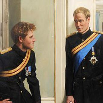 Prince Harry claimed a painting shows him with