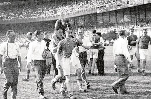 The late Mick Higgins, a member of the famous Cavan team victorious in the Polo Grounds final of 1947