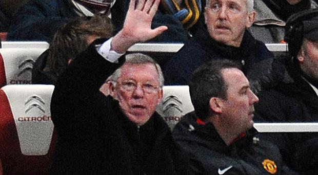 Alex Ferguson hails the Manchester United players over their performance against Chealsea Photo: Getty Images