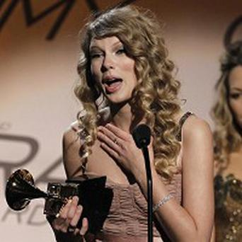 Taylor Swift was delighted with her Grammy win