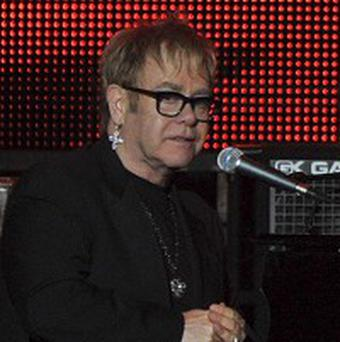 Elton John performed Neil Young's hit Helpless