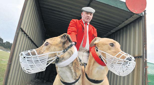 Clonmel slipper Richie Quinn with first round Derby rivals Colossal Storm and Him Over There