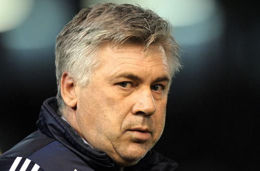 Carlo Ancelotti believes Chelsea could put Arsenal out of the race for the Premier League title Photo: Getty Images