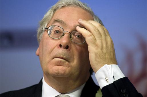 Bank of England Governer Mervyn King. Photo: Bloomberg News