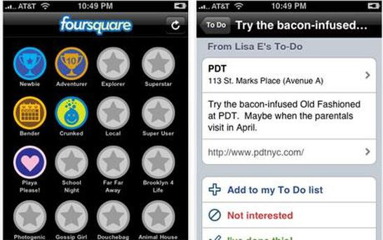 Traffic to Foursquare, the location-based social networking service, has tripled since November, says Hitwise