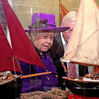 The Queen visits True's Yard Fishing Heritage Museum in King's Lynn, Norfolk