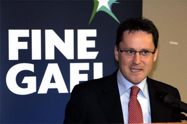 George Lee pictured at the south Dublin Fine Gael constituency meeting at the Stillorgan Park Hotel where he was nominated as a candidate