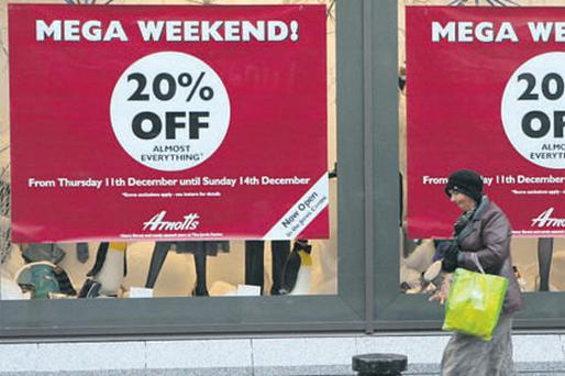 Iconic department store Arnotts is finalising a major refinancing as the downturn in retailing bites