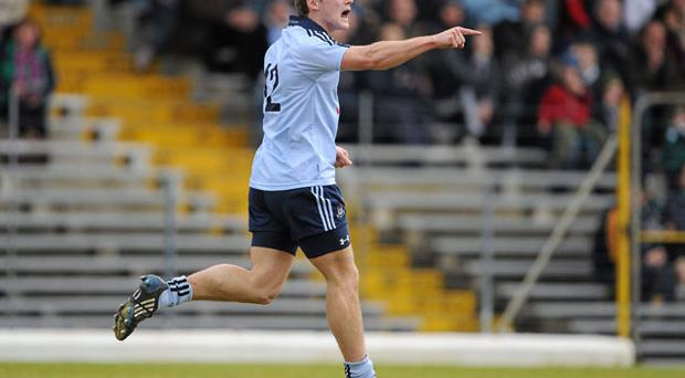 Dublin's Paul Flynn celebrates after scoring his side's goal against Kerry. After such a bright start to the league, Dubs boss Pat Gilroy will have to keep expectations in check for the rest of the campaign