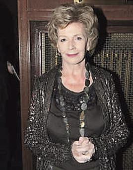 Edna O'Brien at the opening of her play.
