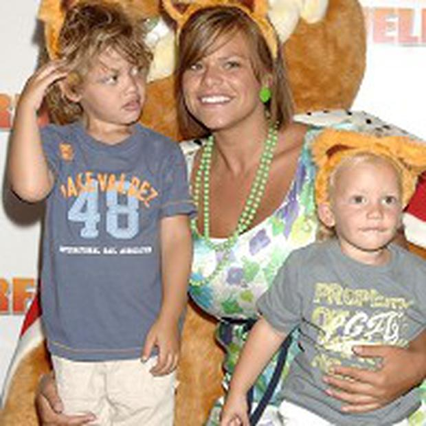 Jade Goody pictured with her sons Freddie (right) and Bobby Jack